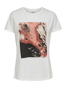 jdytibina s/s print top jrs exp 15188816 jacqueline de yong t-shirt cloud dancer/smoked pap