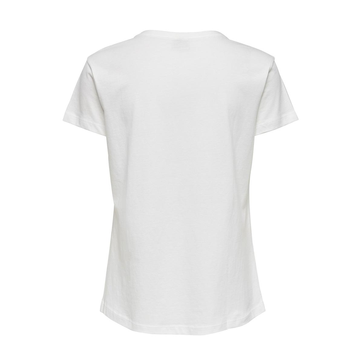 jdytibina s/s print top jrs exp 15188816 jacqueline de yong t-shirt cloud dancer/deep lake