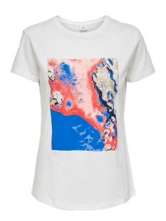 jdytibina s/s print top jrs exp 15188816 jacqueline de yong t-shirt cloud dancer/lapis blue