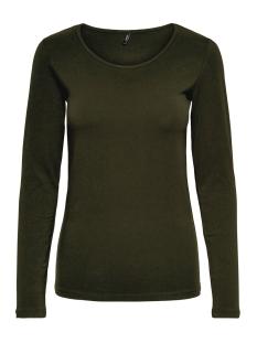 Only T-shirt ONLLIVE LOVE L/S O-NECK TOP NOOS JR 15204712 Peat
