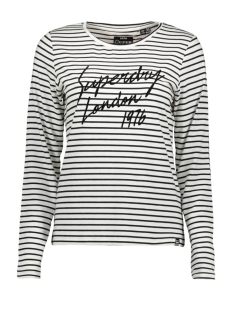 adelina graphic top w6000042a superdry t-shirt white stripe