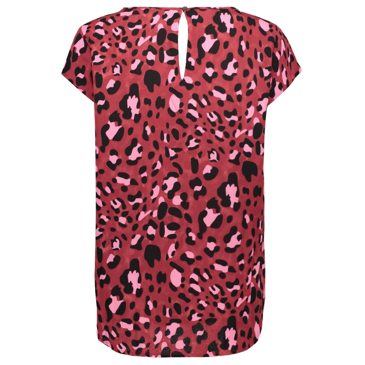 onlnova lux s/s top aop wvn 8 15196282 only t-shirt cordovan/bright leo