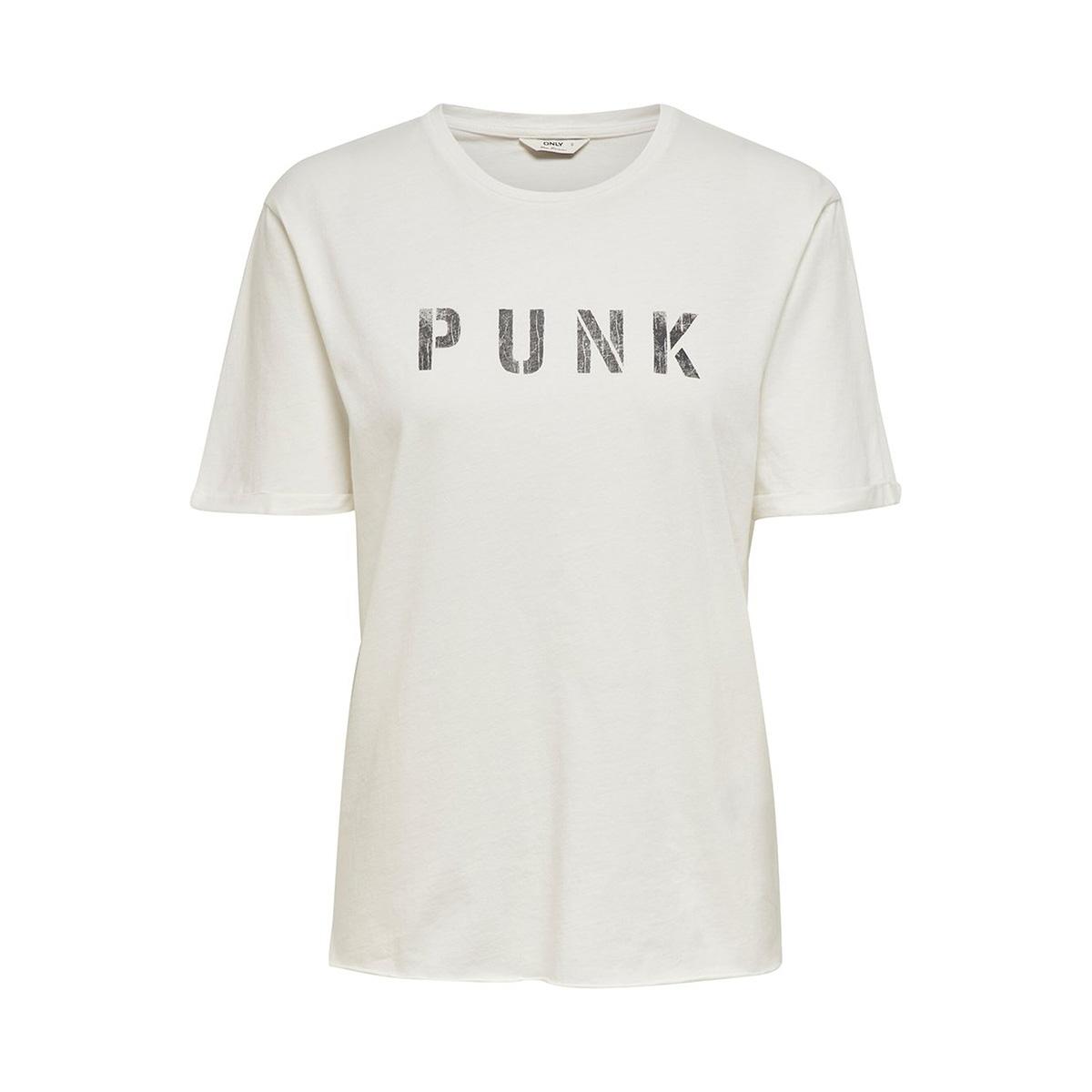 onlpunk ss dnm tee thy 15191438 only t-shirt cloud dancer