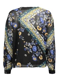 onlnina l/s v-neck top wvn 15191665 only blouse black/scarf flowers blue