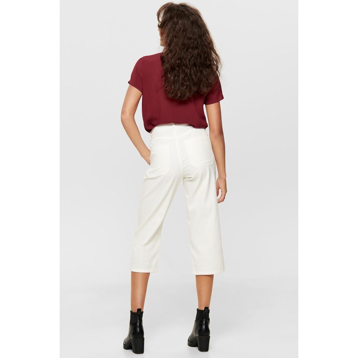 onlfirst ss lace top noos wvn 15191412 only t-shirt merlot