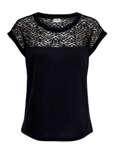 Jacqueline de Yong T-shirt JDYKAMIRA S/S LACE TOP JRS 15194951 Black/DTM LACE