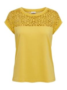 Jacqueline de Yong T-shirt JDYKAMIRA S/S LACE TOP JRS 15194951 Misted Yellow/DTM LACE