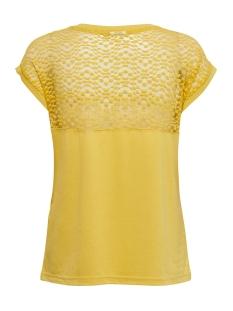 jdykamira s/s lace top jrs 15194951 jacqueline de yong t-shirt misted yellow/dtm lace