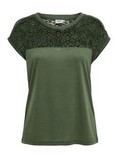 Jacqueline de Yong T-shirt JDYKAMIRA S/S LACE TOP JRS 15194951 Thyme/DTM LACE