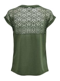jdykamira s/s lace top jrs 15194951 jacqueline de yong t-shirt thyme/dtm lace