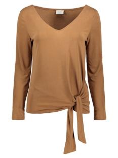 viatetsy 7/8 knot t-shirt/l 14058079 vila t-shirt rawhide
