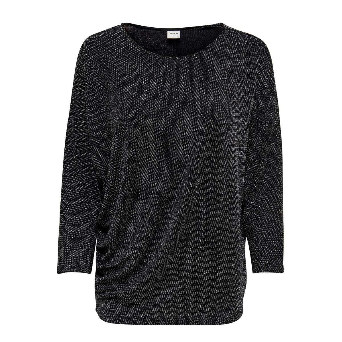 jdyfrei 7/8 top jrs 15185957 jacqueline de yong t-shirt black/silver lur