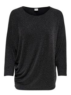Jacqueline de Yong T-shirt JDYFREI 7/8 TOP JRS 15185957 Black/SILVER LUR