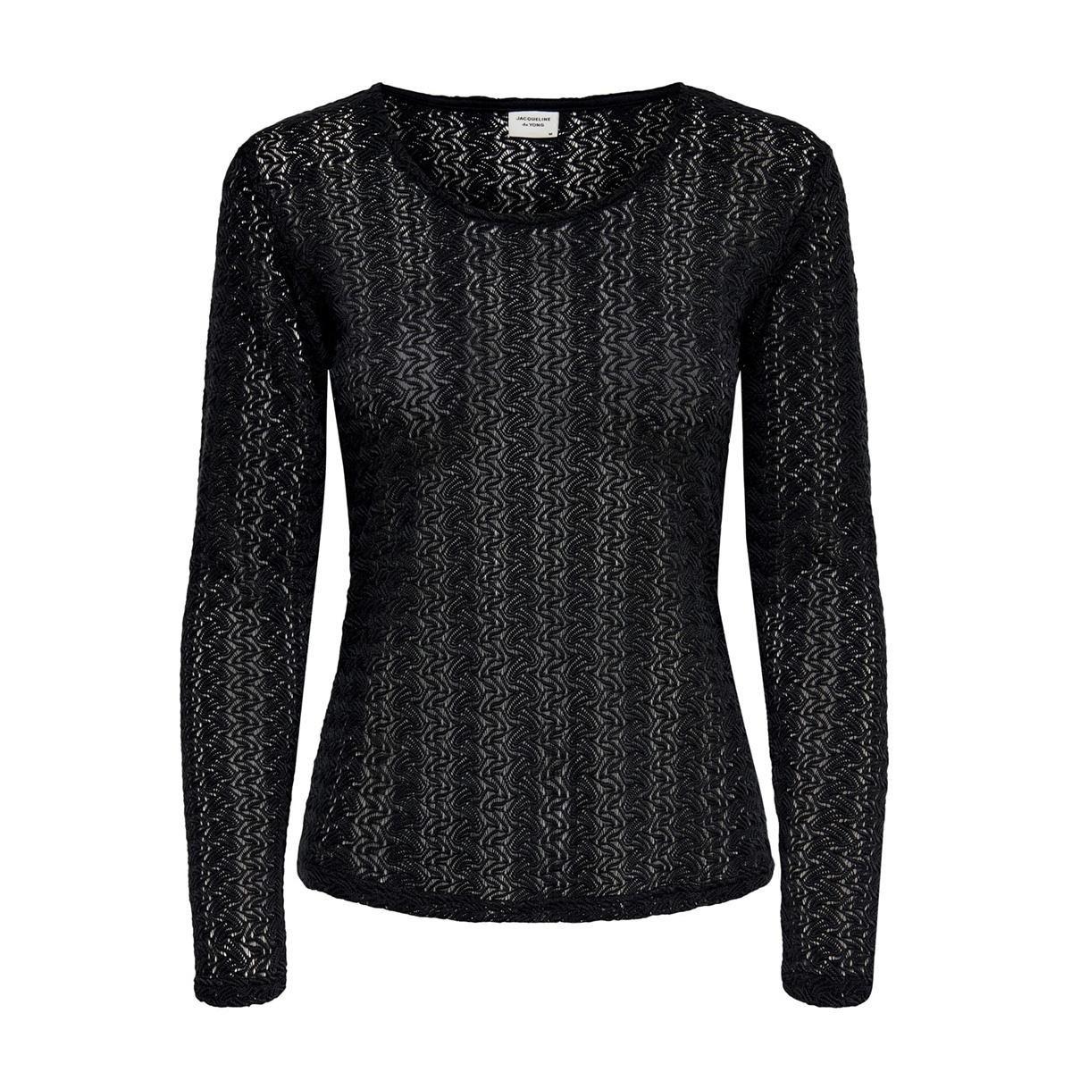 jdylenna l/s lace top jrs 15193551 jacqueline de yong t-shirt black