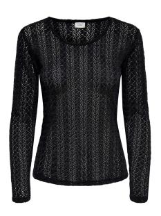 Jacqueline de Yong T-shirt JDYLENNA L/S LACE TOP JRS 15193551 Black