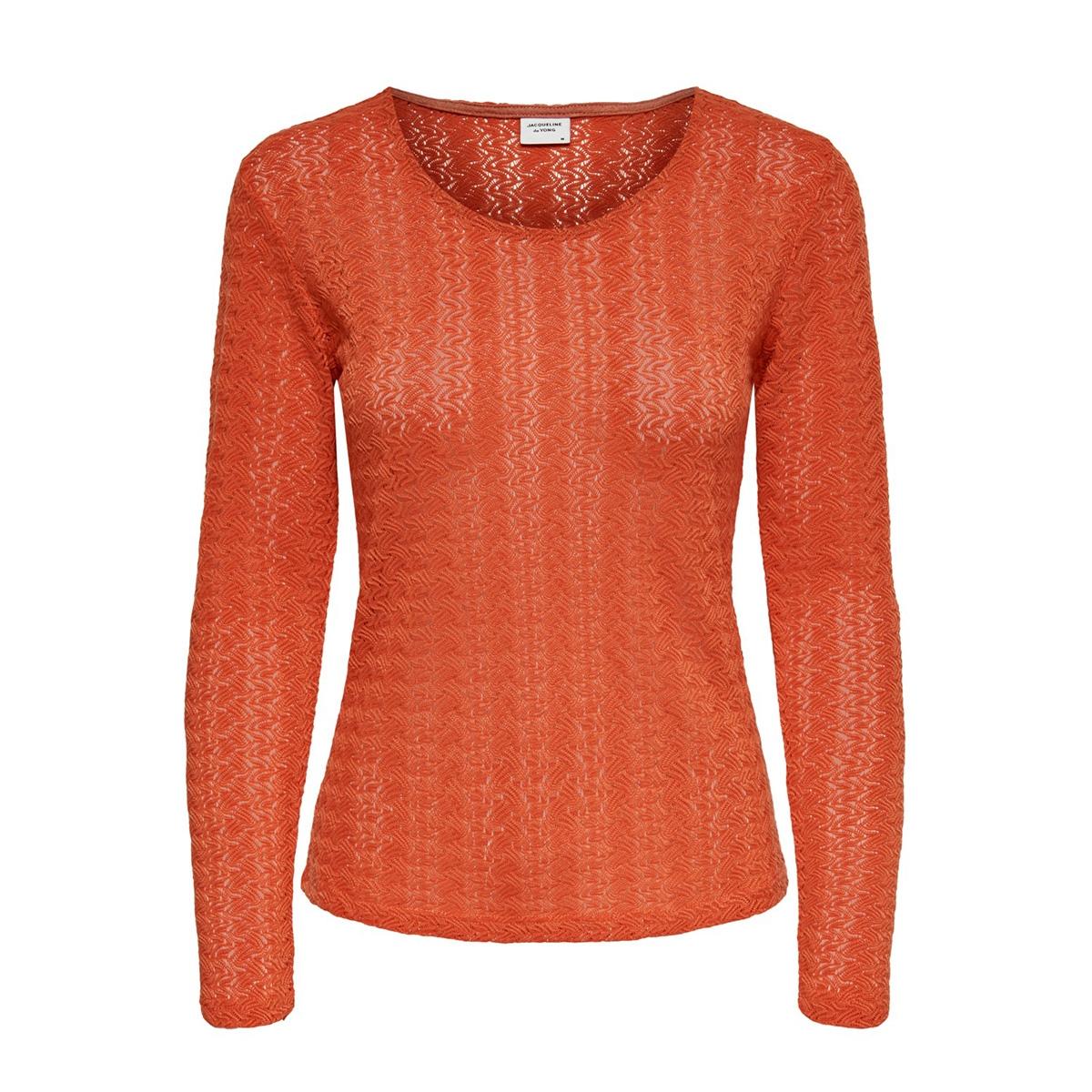 jdylenna l/s lace top jrs 15193551 jacqueline de yong t-shirt summer fig