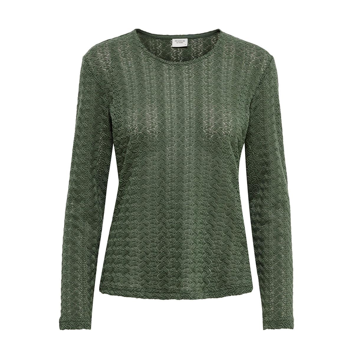 jdylenna l/s lace top jrs 15193551 jacqueline de yong t-shirt thyme