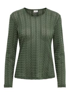 Jacqueline de Yong T-shirt JDYLENNA L/S LACE TOP JRS 15193551 Thyme