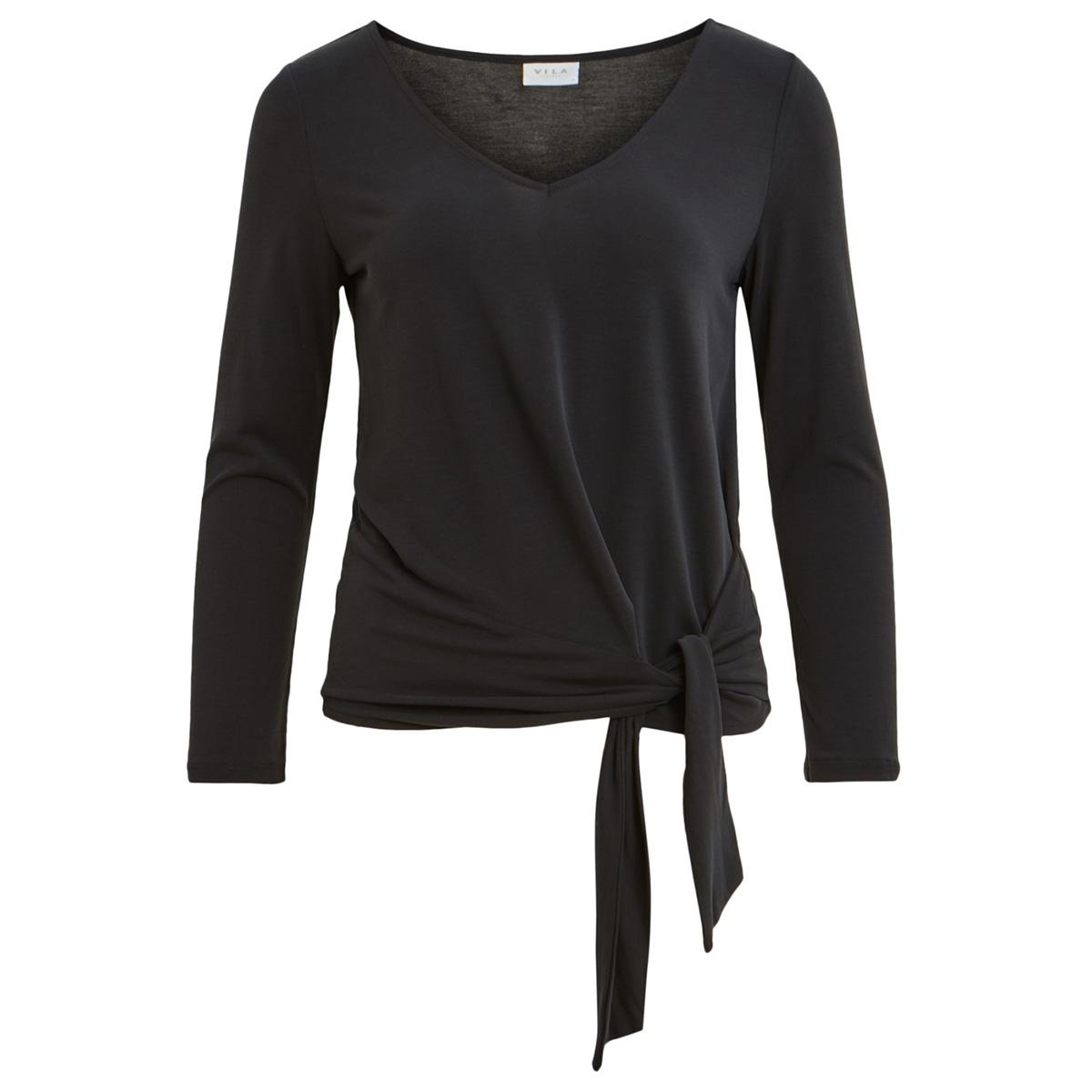 viatetsy 7/8 knot t-shirt/l 14058079 vila t-shirt black