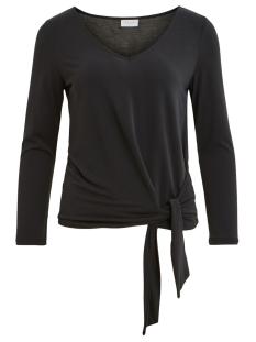 Vila T-shirt VIATETSY 7/8 KNOT T-SHIRT/L 14058079 Black