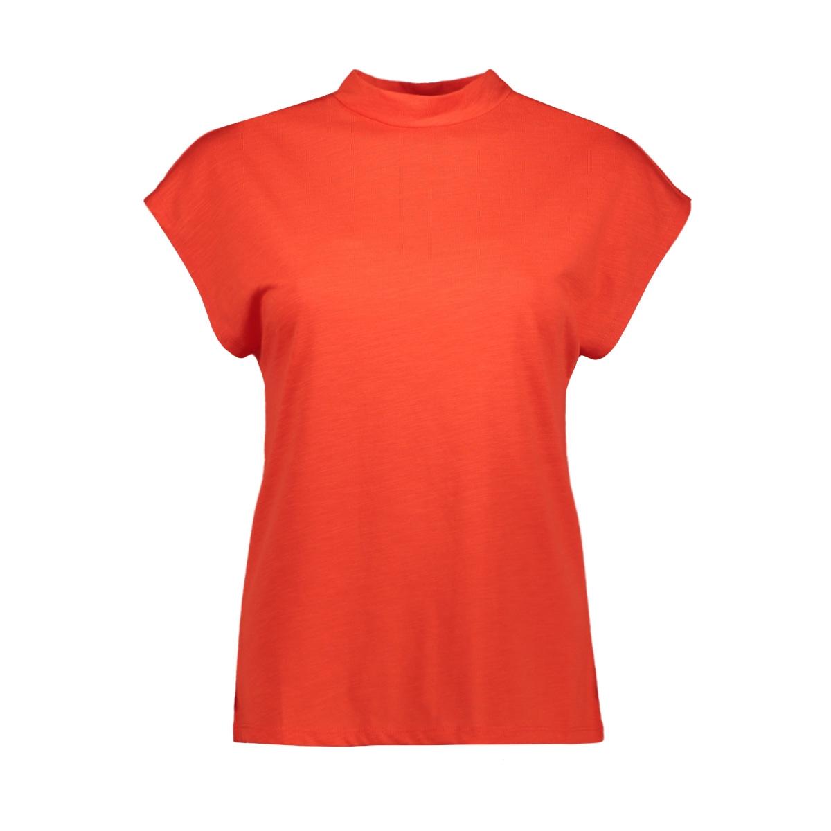 nmdenny s/s  high neck top 27011782 noisy may t-shirt fiery red
