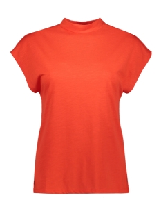 Noisy may T-shirt NMDENNY S/S  HIGH NECK TOP 27011782 Fiery Red