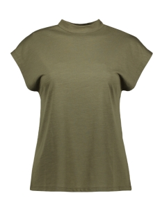 Noisy may T-shirt NMDENNY S/S  HIGH NECK TOP 27011782 Olive Night