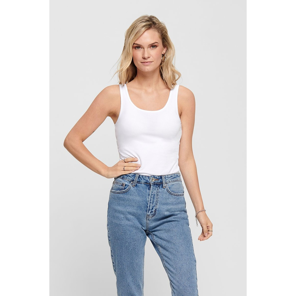 onllive love tank top noos 15095808 only top white
