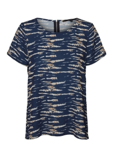 vmsasha ss zip top aop 10229239 vero moda t-shirt night sky/tie dye