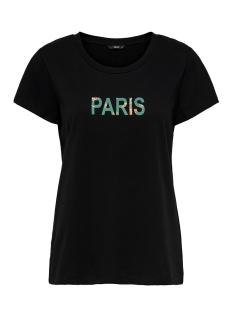 Only T-shirt ONLMARLYN S/S T-SHIRT JRS 15204633 Black/PARIS