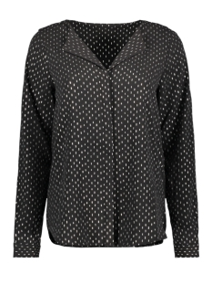 vmgrace l/s top aop 10222941 vero moda blouse black/foil silve