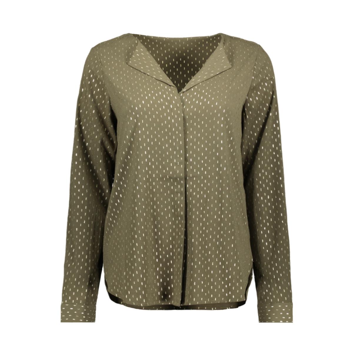 vmgrace l/s top aop 10222941 vero moda blouse ivy green /foil gold