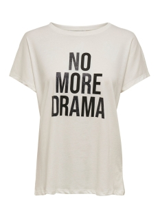 Jacqueline de Yong T-shirt JDYJAIME S/S SEQ TOP JRS EXP 15203344 Cloud Dancer/NO MORE DR