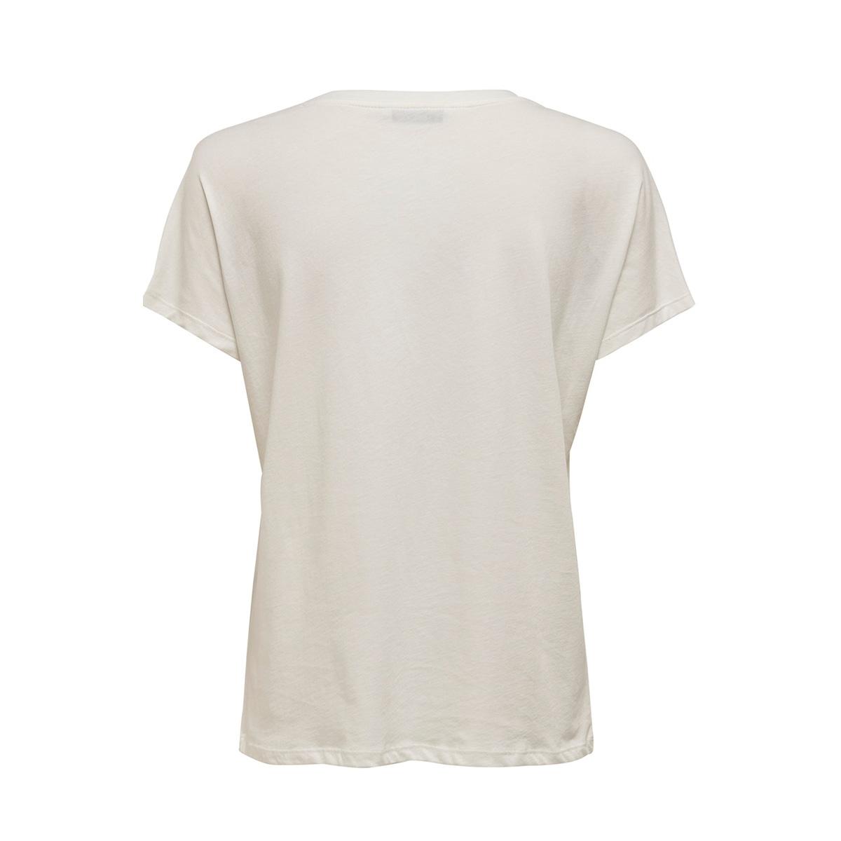 jdyjaime s/s seq top jrs exp 15203344 jacqueline de yong t-shirt cloud dancer/no more dr