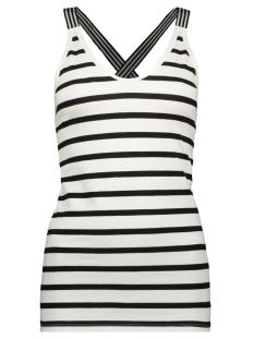 wrapper stripes 71 715 9100 10 days top soft white/black