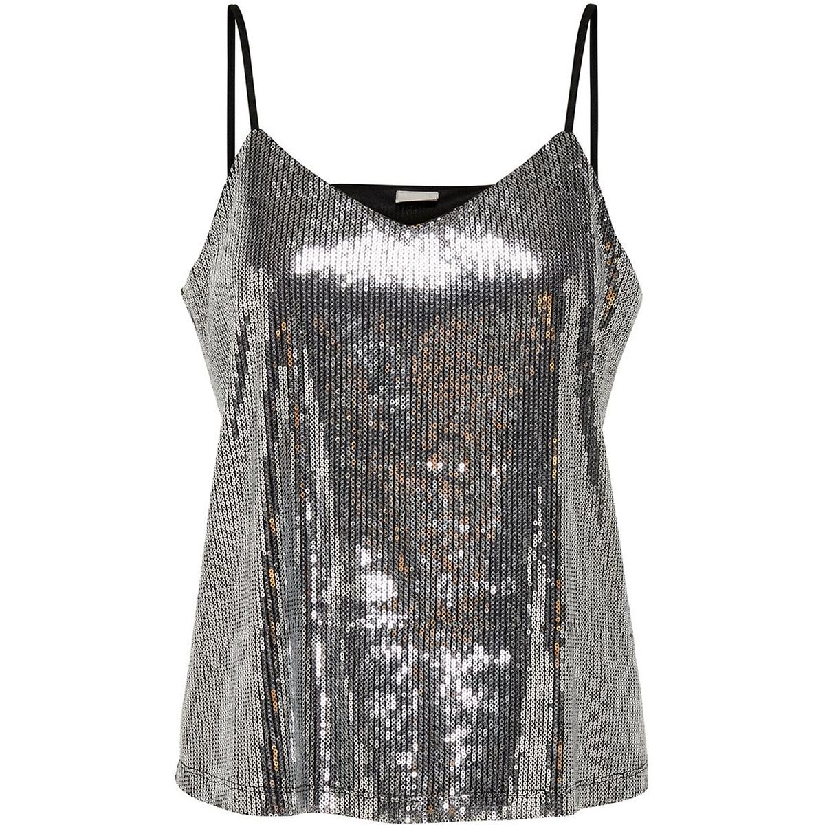 jdypixie singlet wvn exp 15197554 jacqueline de yong top black/silver seq