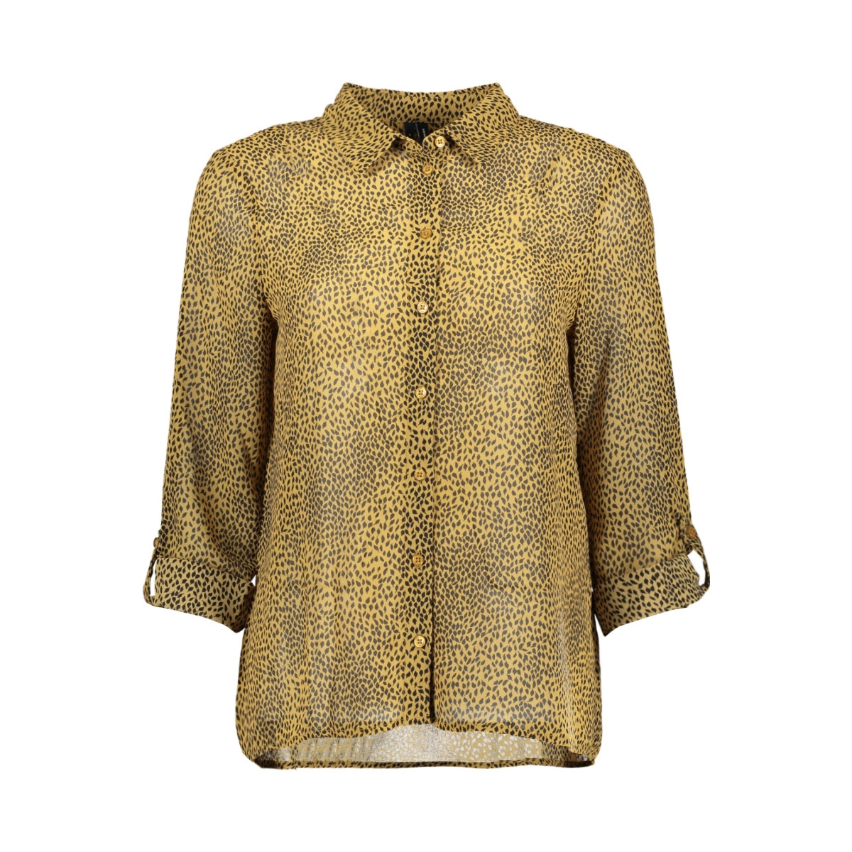vmcailey fold up l/s shirt exp 10222765 vero moda blouse dull gold/alisia-bl