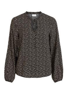 vialu l/s top /rx 14058719 vila blouse black/sandshell