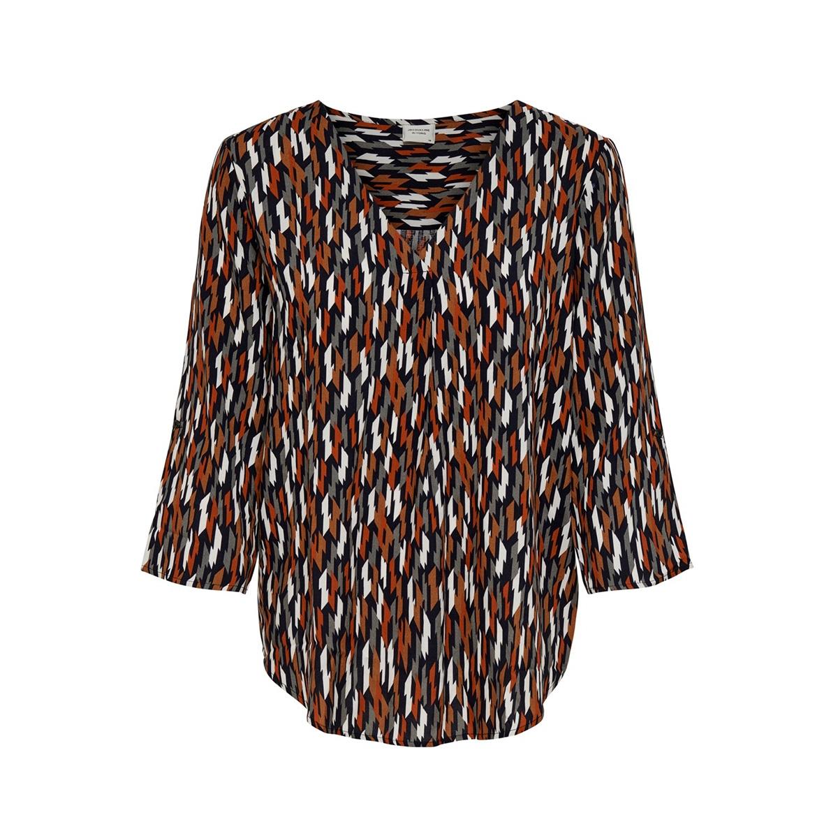 jdypeak 3/4 top wvn 15189902 jacqueline de yong blouse black/geometric