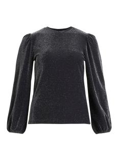 Vila T-shirt VIKELLO L/S GLITTER TOP /RX 14059044 Black/GLITTER SILVER