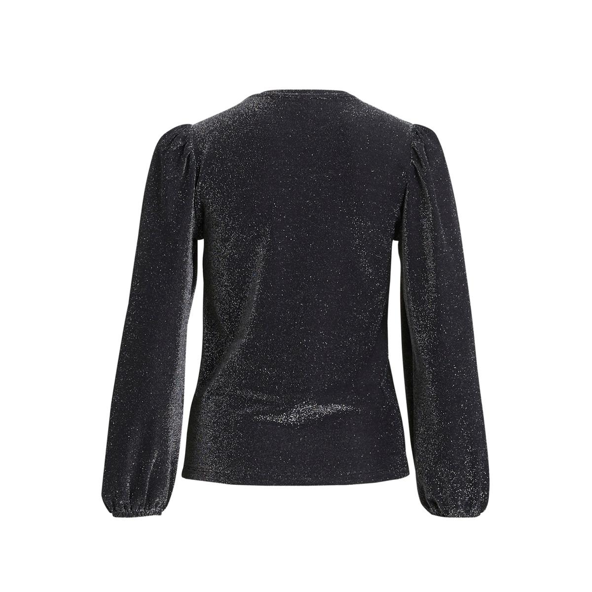 vikello l/s glitter top /rx 14059044 vila t-shirt black/glitter silver