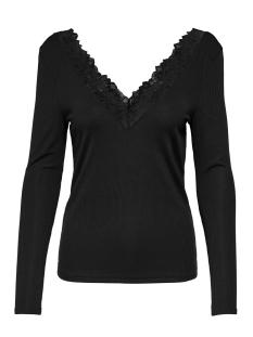Only T-shirt ONLRIO L/S V-NECK TOP JRS 15193063 Black/DTM LACE