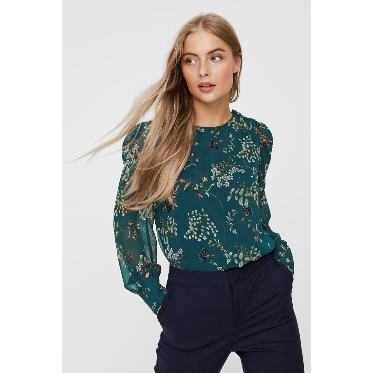 vmjulie ls top wvn 10225604 vero moda blouse atlantic deep/aop julie