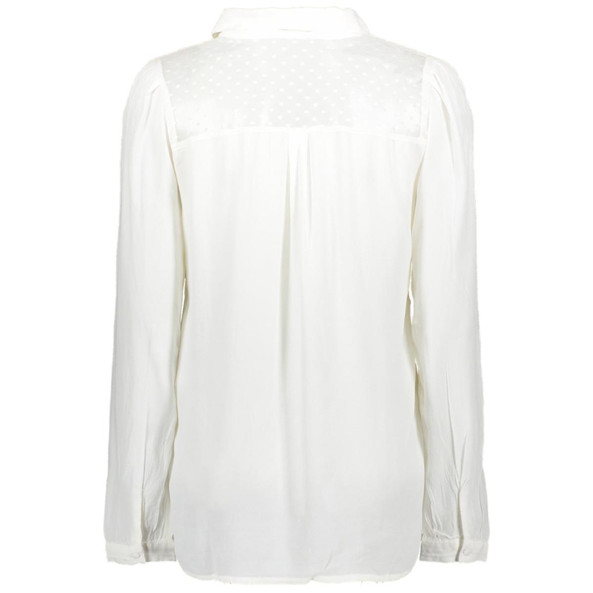 onldoris l/s top wvn 15192234 only blouse cloud dancer