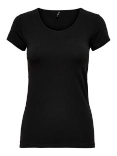 Only T-shirt ONLLIVE LOVE S/S O-NECK TOP NOOS JR 15205059 Black