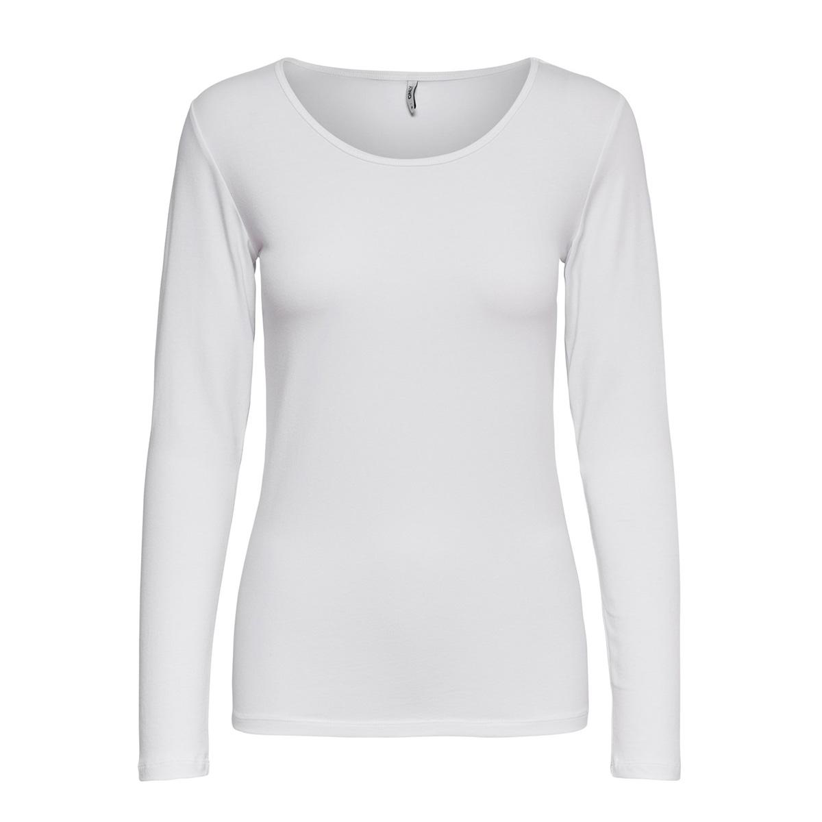 onllive love l/s o-neck top noos jr 15204712 only t-shirt white