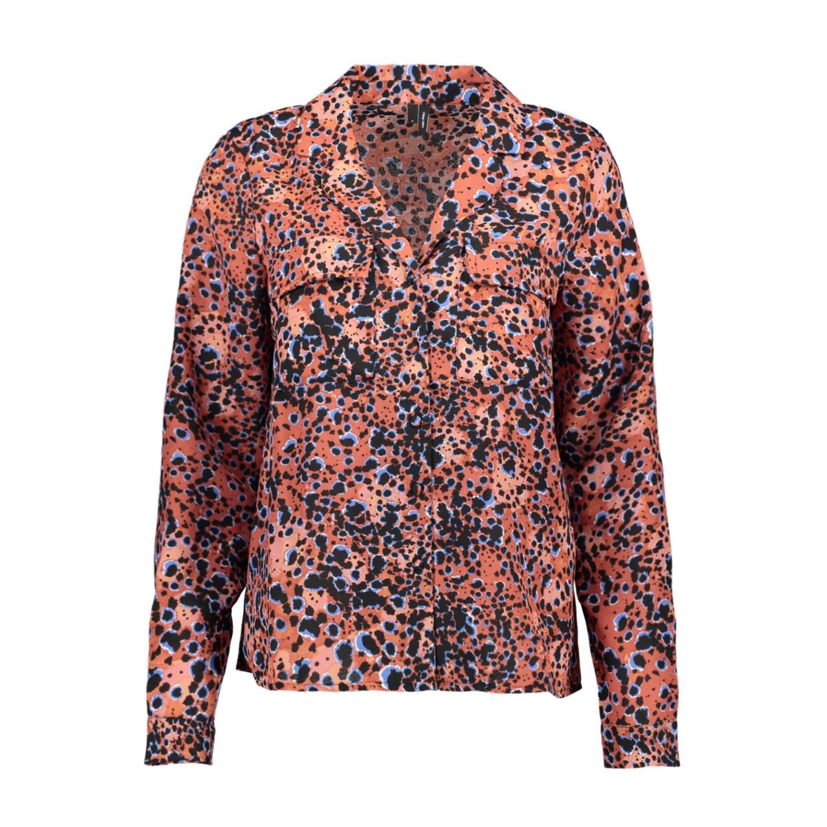vmlaia l/s shirt sb2 10229661 vero moda blouse marsala/laila