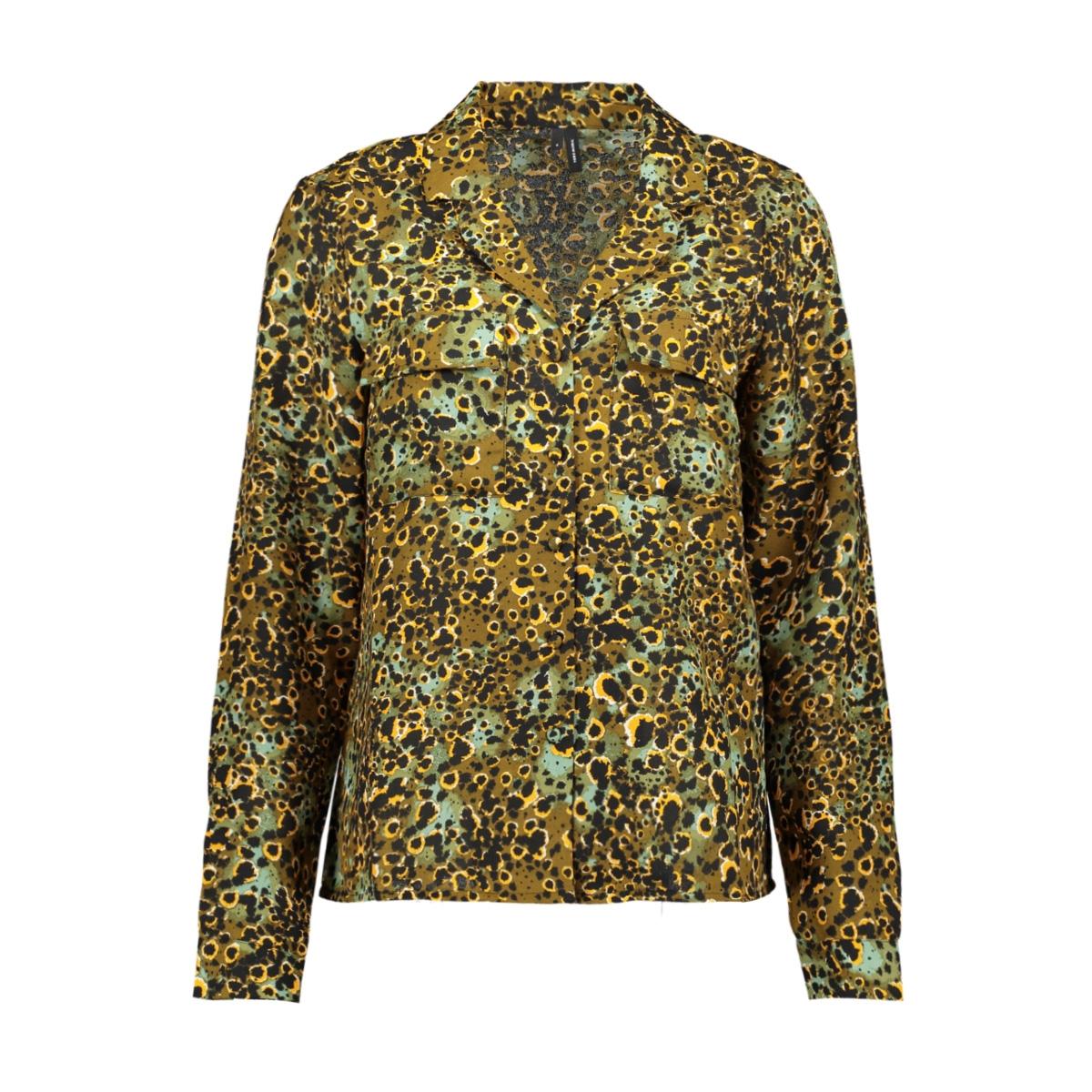 vmlaia l/s shirt sb2 10229661 vero moda blouse millitary olive/laila