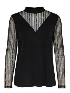 Jacqueline de Yong T-shirt JDYKIA L/S TOP JRS 15185967 Black/DTM LACE