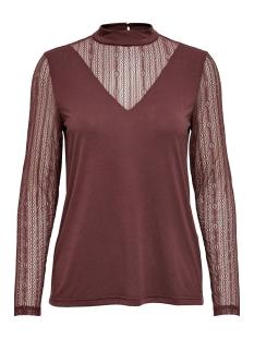 Jacqueline de Yong T-shirt JDYKIA L/S TOP JRS 15185967 Vineyard Wine/DTM LACE
